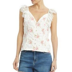 Nightcap Eliza Eyelet Floral Top